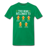 This Mimi Belongs To Custom Gingerbread Unisex Shirt - kelly green