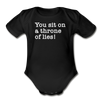 Funny Christmas Movie Quote Throne Of Lies Baby Bodysuit - black