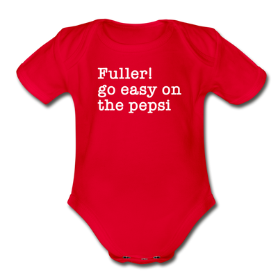 Funny Christmas Movie Quote Fuller Baby Bodysuit - red