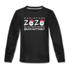 Christmas Quarantine 2020 Long Sleeve Youth Shirt - black