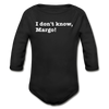 Don't Know Margo Christmas Movie Long Sleeve Baby Bodysuit - black