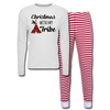 Christmas With My Tribe Adult Pajama Set - white/red stripe