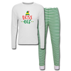 Boss Elf Unisex Pajama Set - white/green stripe