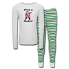Merry & Masked Kids' Pajama Set - white/green stripe