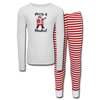 Merry & Masked Kids' Pajama Set - white/red stripe