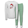 Girl Polar Bear Kids' Pajama Set - white/green stripe