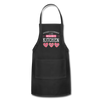 Happiness Is Homemade Personalized Grandma Apron - black