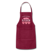 Happiness Is Homemade Personalized Grandma Apron - burgundy