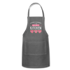 Happiness Is Homemade Personalized Grandma Apron - charcoal