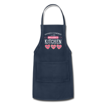Happiness Is Homemade Personalized Grandma Apron - navy