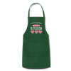 Happiness Is Homemade Personalized Grandma Apron - forest green
