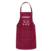 Personalized Grandmas Kitchen Kids' Name Apron - burgundy