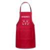 Personalized Grandmas Kitchen Kids' Name Apron - red
