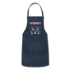 Personalized Grandmas Kitchen Kids' Name Apron - navy