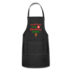 Gingerbread Kisses and Christmas Wishes Apron - black