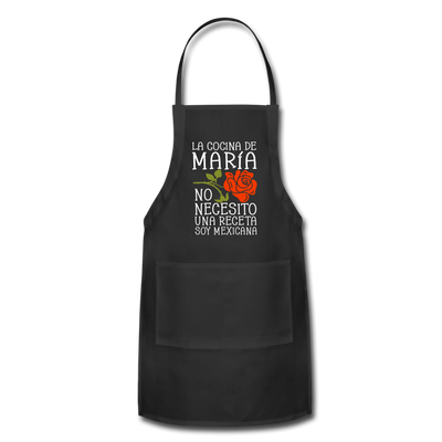 Personalized Mexican Mom Apron - black