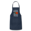 Personalized Mexican Mom Apron - navy