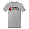 Merry Quarantine Christmas - Adult Tee - heather gray