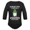 Quarantined With My Gnomies - Baby Long Sleeve One-piece - black