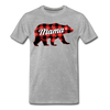 Buffalo Plaid Mama Bear - Adult Tee - heather gray