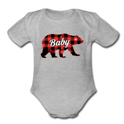 Papa Bear Mama Bear Baby Bear Buffalo Plaid Matching Shirts