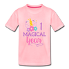 1st Birthday Magical Unicorn - Toddler Tee - pink