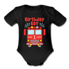 1st Birthday Fire Department - Baby Bodysuit - black