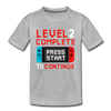 2nd Birthday Level Up Video Game - Toddler Tee - heather gray