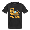 5th Construction Birthday Toddler Tee - black