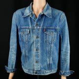 Police Band Levis Denim Jacket Vintage 46 Mens Medium