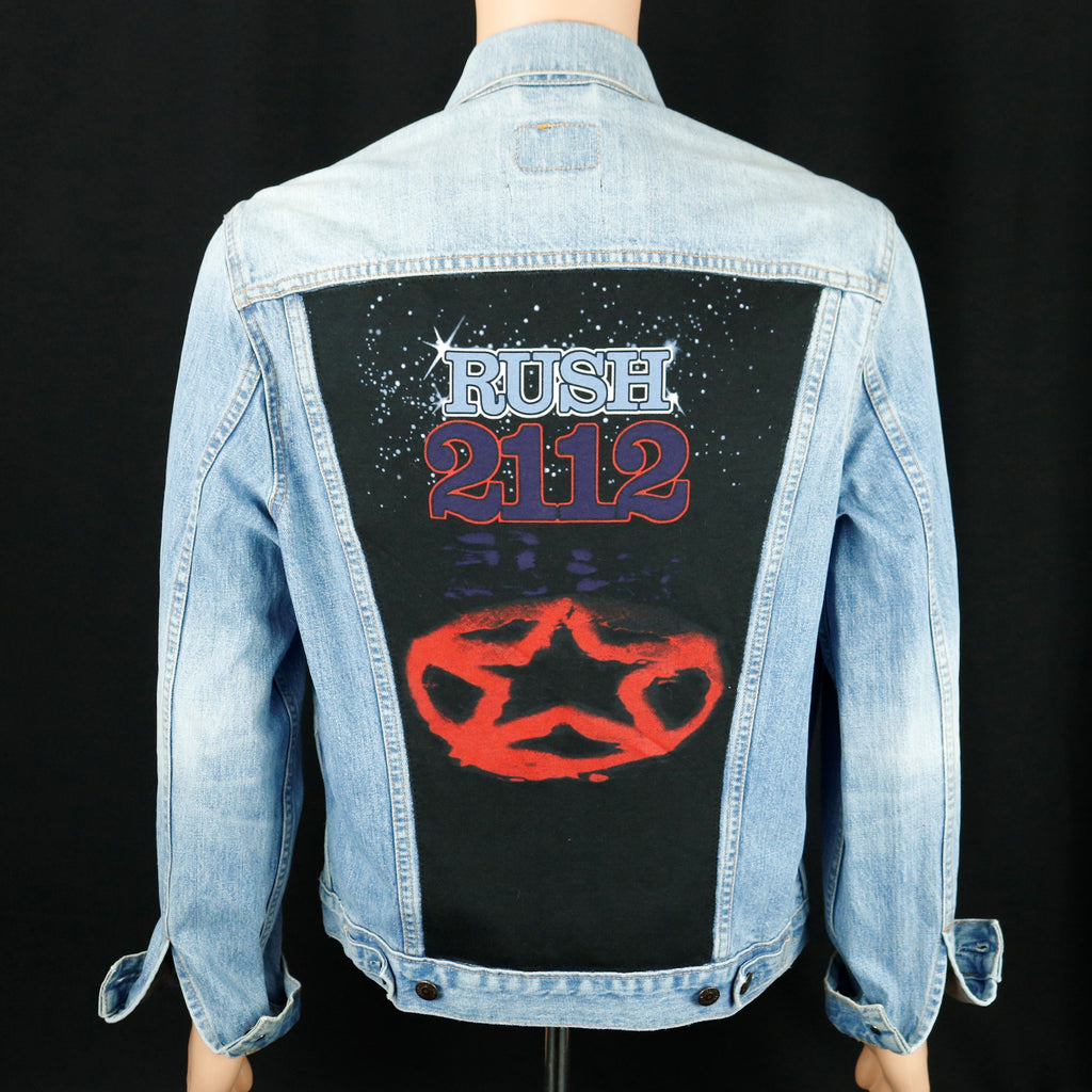 RUSH Band Levis Denim Jacket 2112 Mens Medium