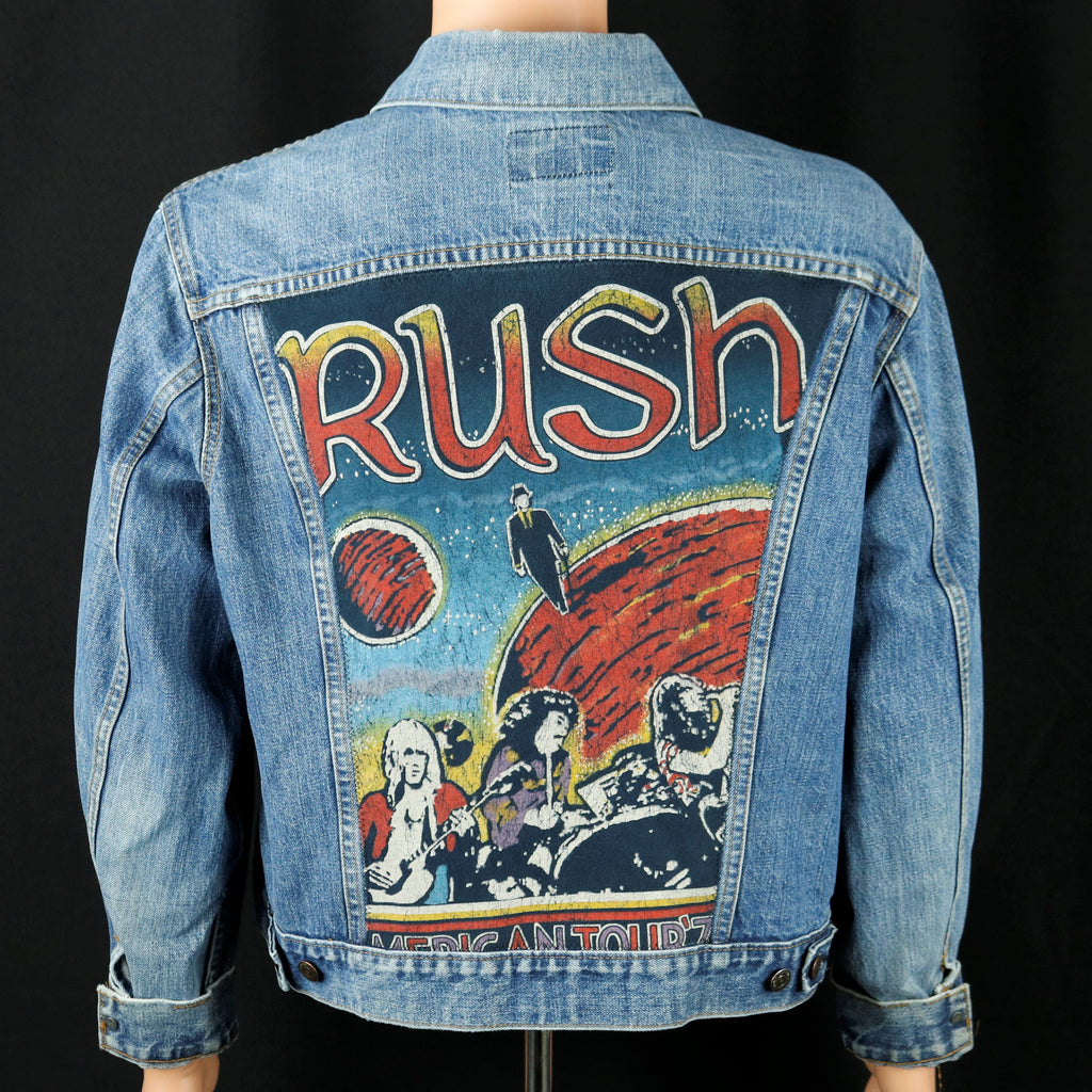 RUSH Band Levis Denim Jacket Vintage USA Mens Medium