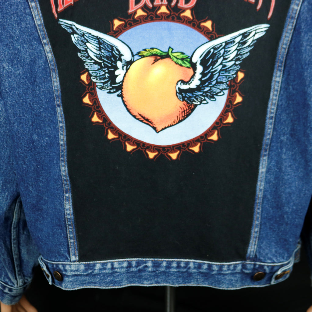 Allman Brothers Band Levis Denim Jacket Peach Vintage Mens XLarge
