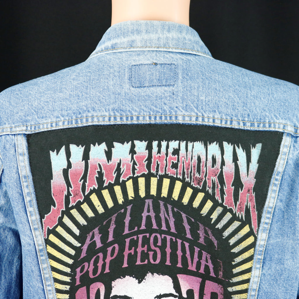 Jimi Hendrix Levis Denim Jacket USA 46L Mens Medium