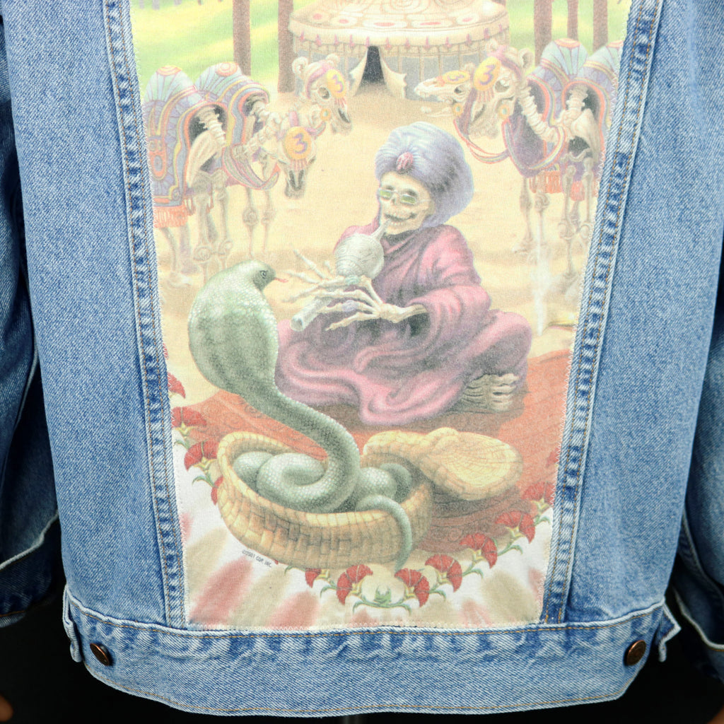 Grateful Dead Levis Denim Jacket Snake Charmer Mens Large