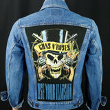 Van Halen Levis Denim Jacket USA 38  Mens XSmall Womens Medium