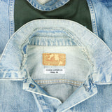 Iron Maiden Levis Denim Jacket Distressed USA Mens Medium