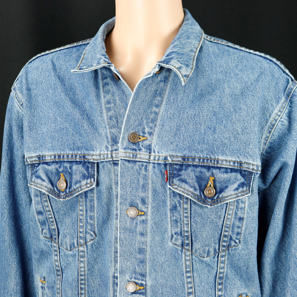 QUEEN Band Levis Denim Jacket Vintage USA Mens Large
