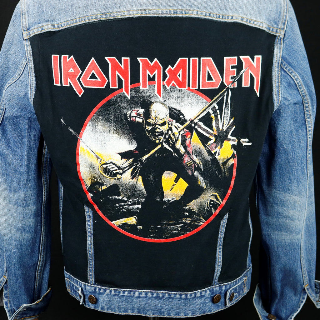 Iron Maiden Levis Denim Jacket Mens Small Womens Large