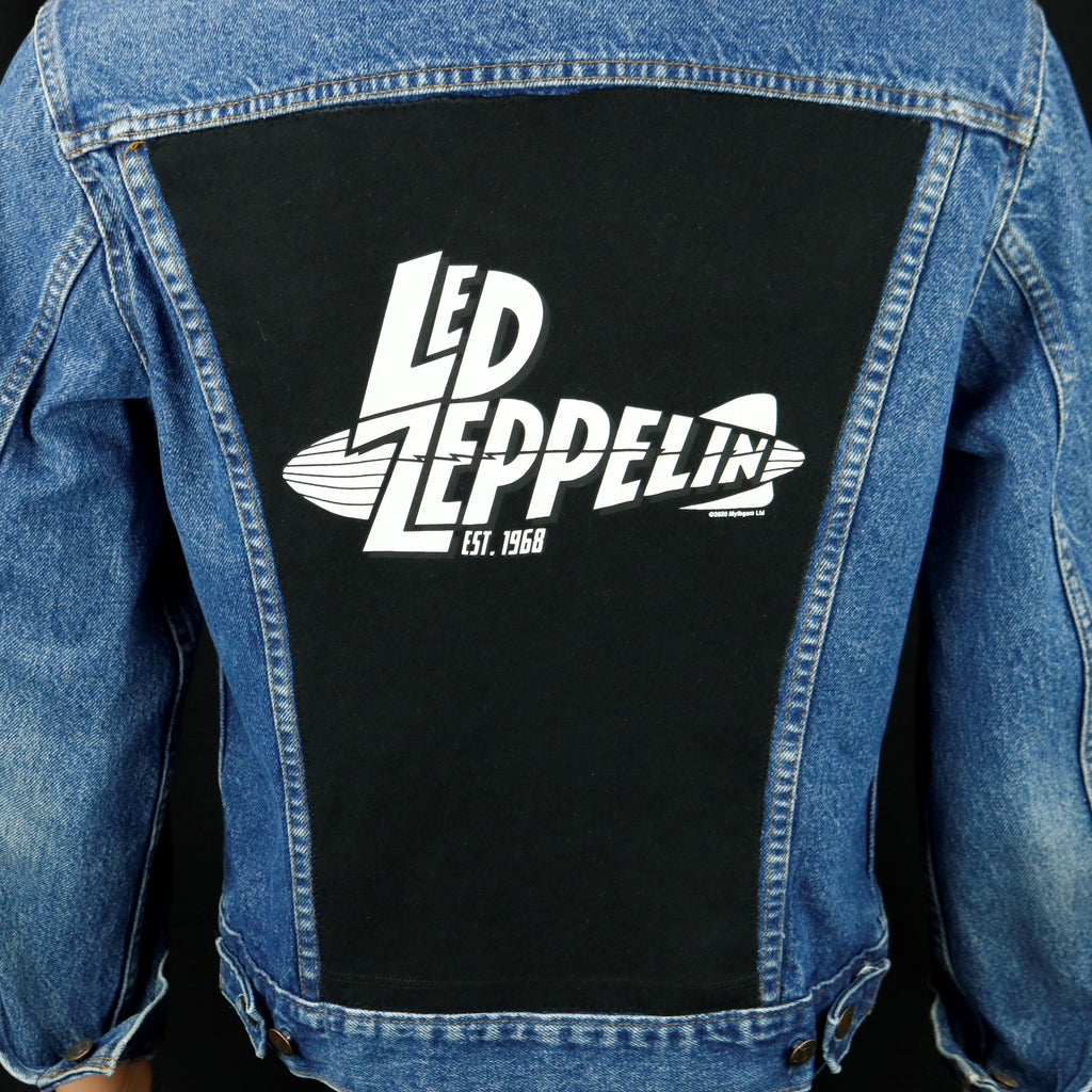 Led Zeppelin Levis Denim Jacket USA 40 Mens Small Womens Medium