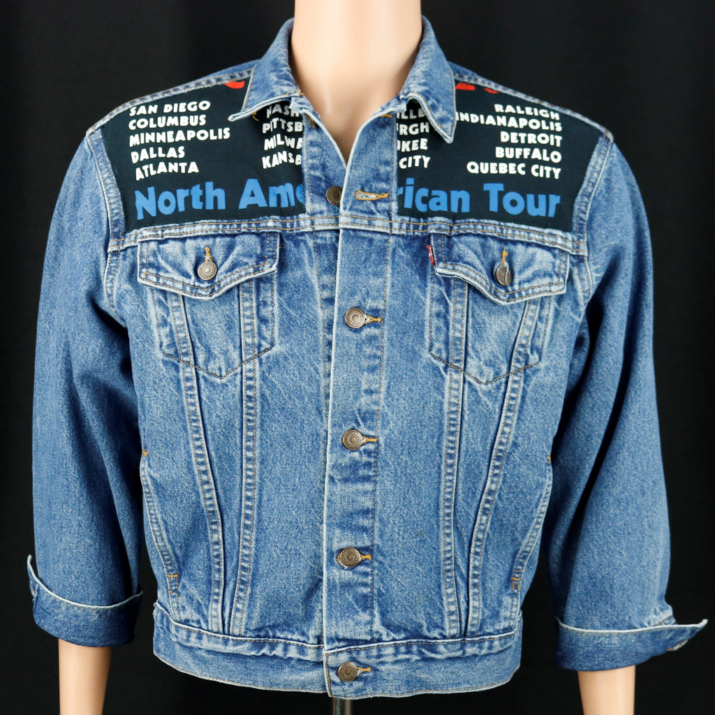 Rolling Stones Levis Denim Jacket Mens Medium Womens Large