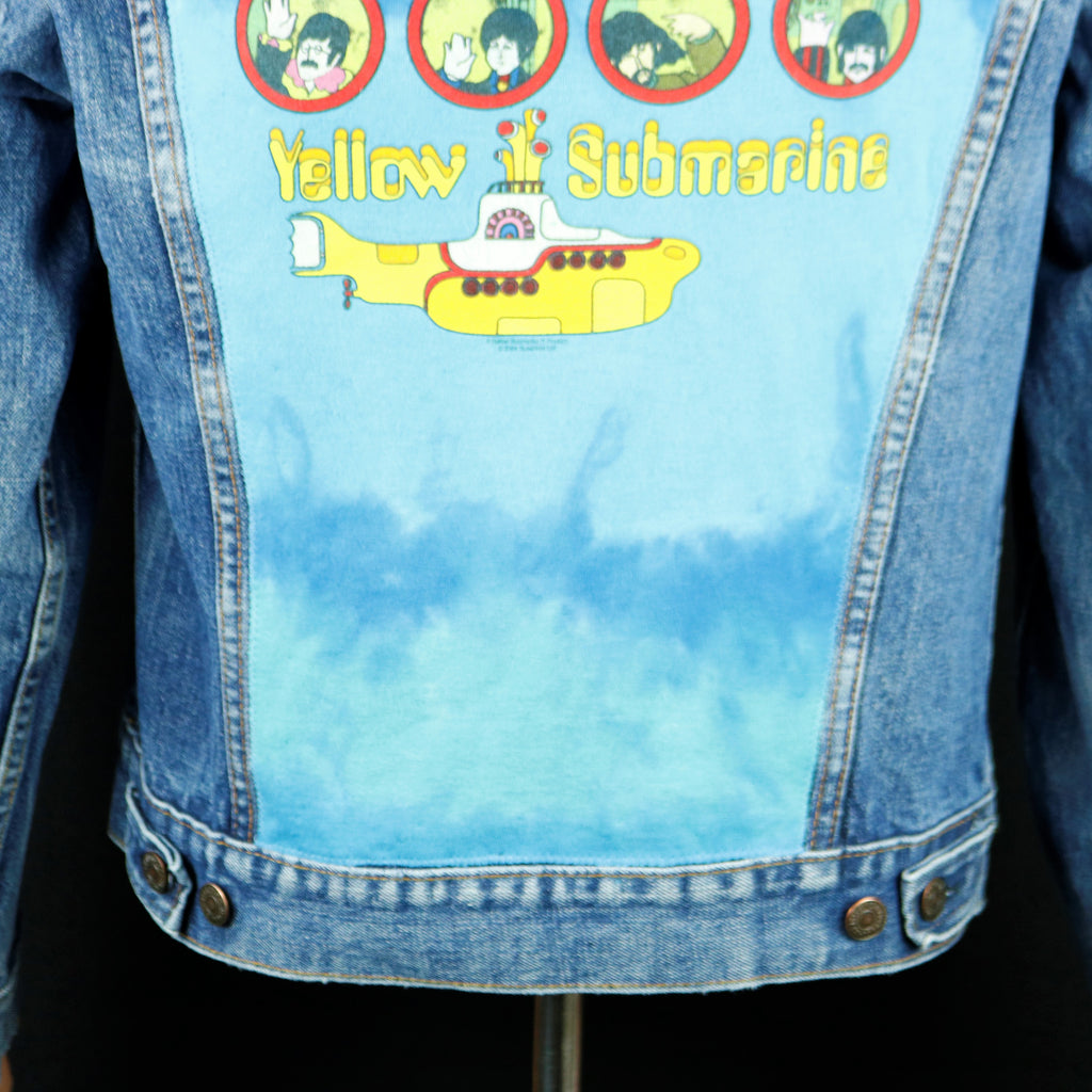 Beatles Levis Denim Jacket Yellow Submarine Vintage USA Mens Small