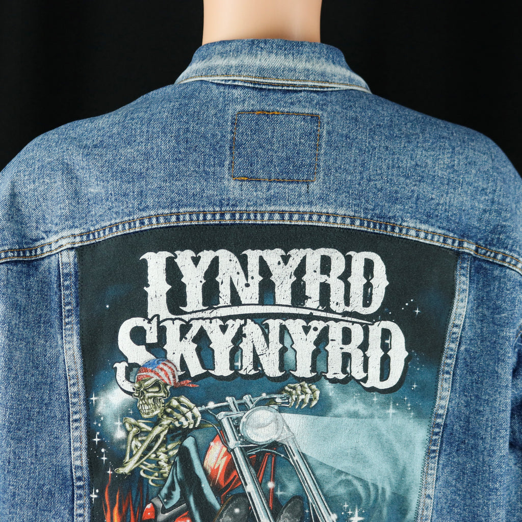 Lynyrd Skynyrd Levis Denim Jacket Chopper Mens 2XL