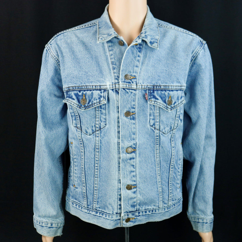 Pink Floyd Levis Denim Jacket Animal Blue Jean Mens MEDIUM