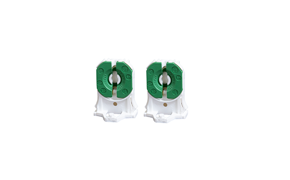 PAIR, G13 base, Non-Shunted Lampholder; One W/3' WIRE (LEDFLSH-G13NS-SNETGW) - Energy Focus, Inc