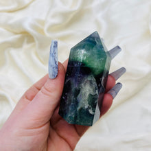 Load image into Gallery viewer, Adorable Rainbow Fluorite Tower (6.1oz)