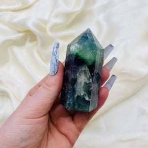 Adorable Rainbow Fluorite Tower (6.1oz)