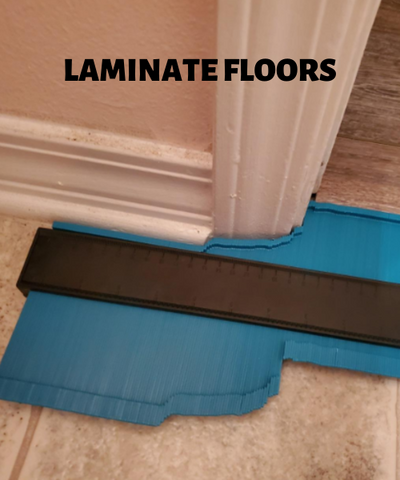 contour gauge helps immensely with laminate flooring