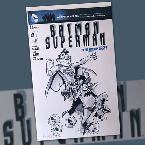 The Vault Item #010 - Lar deSouza Batman Superman #001 Cover! Signed!