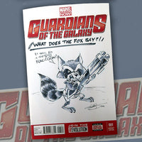 The Vault Item #008 - Lar deSouza Guardians of the Galaxy #001 Cover! Signed!